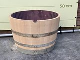 Ronde plantenbak hout doorsnede 70 cm