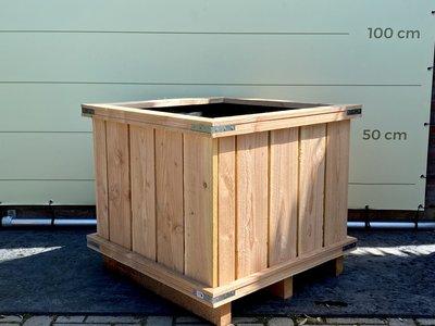 Hardhouten bak 80x80x60 cm